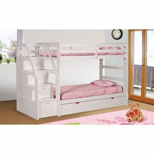 Giường ngủ 2 tầng trẻ em đẹp giá rẻ TPHCM có hộc kéo ở cầu thang