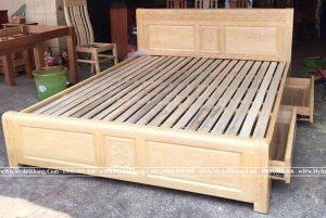 Giường ngủ 2 ngăn kéo mặt thưa