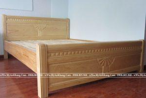 Giường ngủ gỗ sồi Nga chân cao giá rẻ tphcm