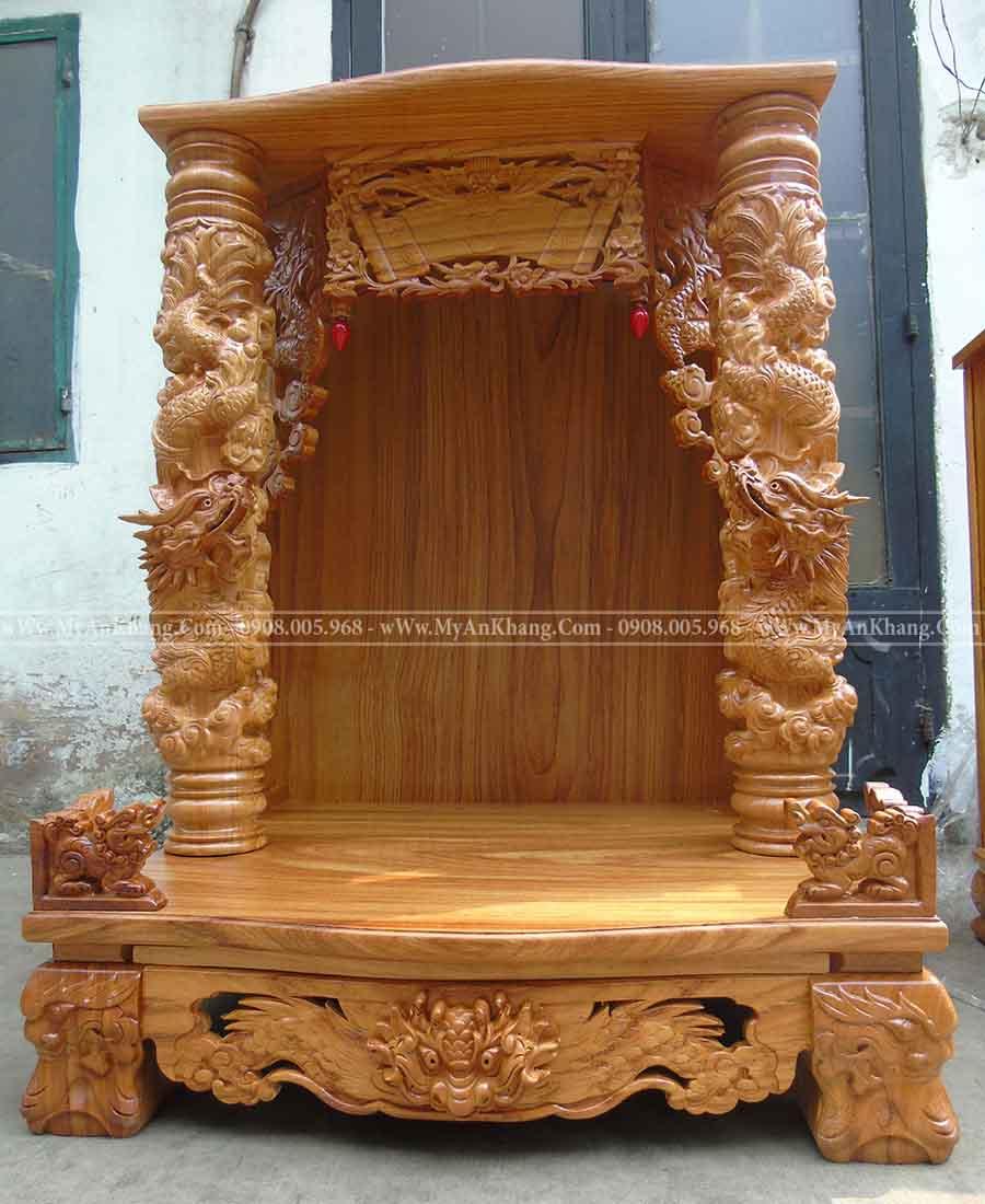Bàn thờ ông địa cột rồng ngang 81 cao 108