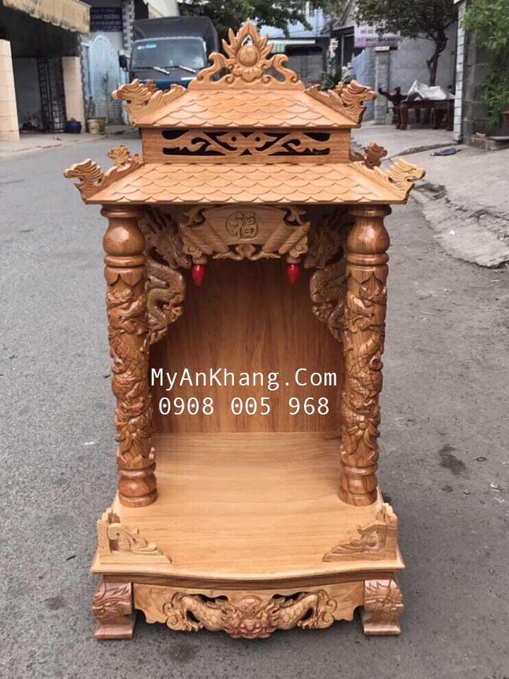 Bàn thờ ông địa mái chùa kích thước 48 x 48 giá rẻ