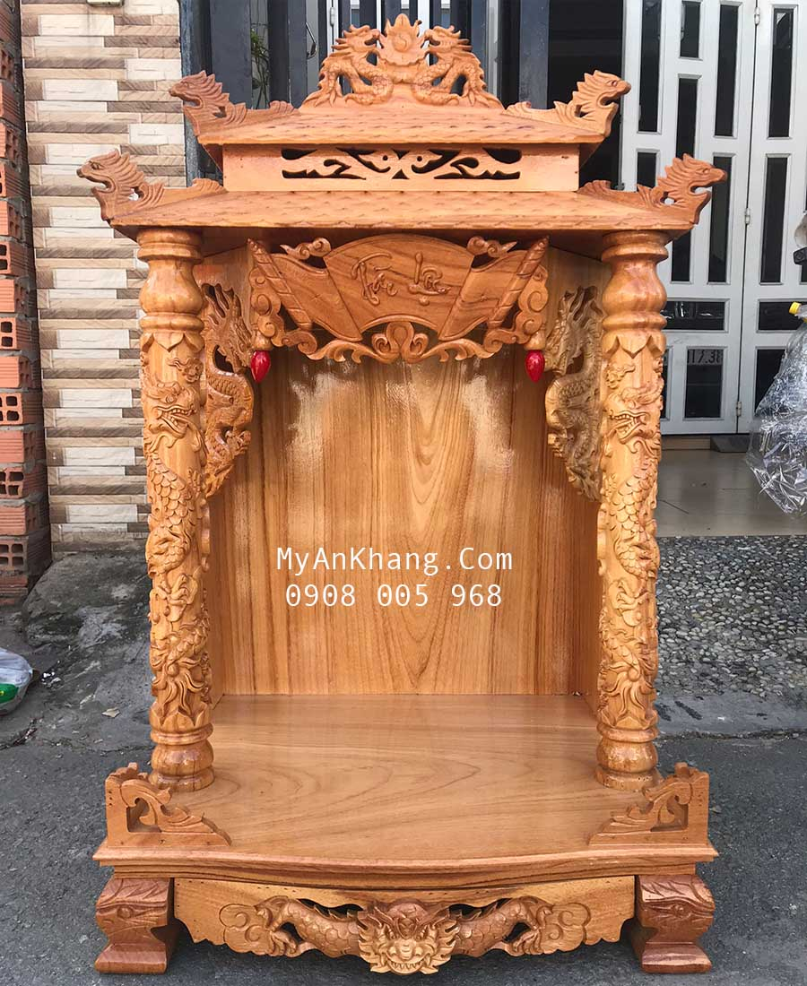 Bàn thờ ông địa thần tài giá rẻ kích thước 60 mái chùa