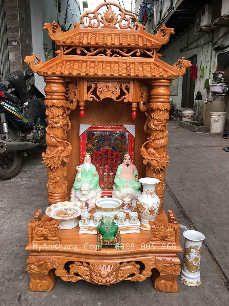 Bàn thờ ông địa thần tài mái chùa đẹp tại TPHCM