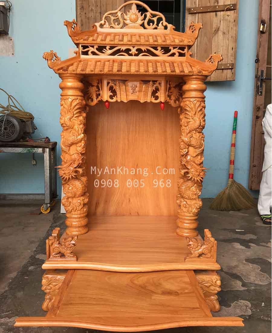Bàn thờ ông địa thần tài mái chùa 68 x 68 x 133cm