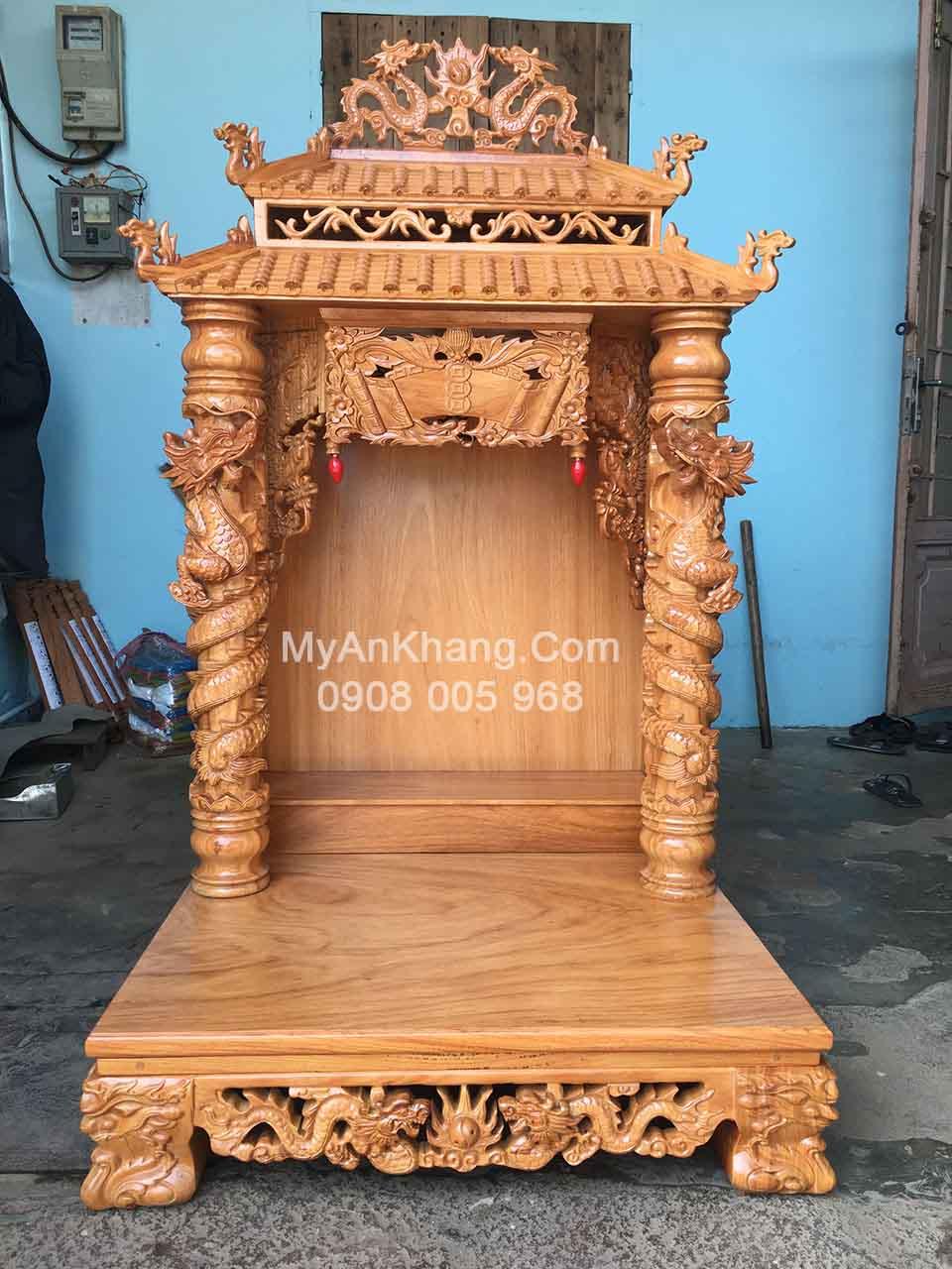 Mẫu bàn thờ thần tài mái chùa đẹp