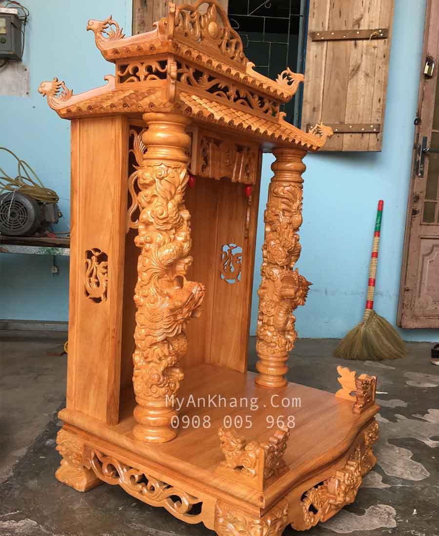 Tủ thờ thần tài mái chùa đẹp độc kt 68 68 133cm