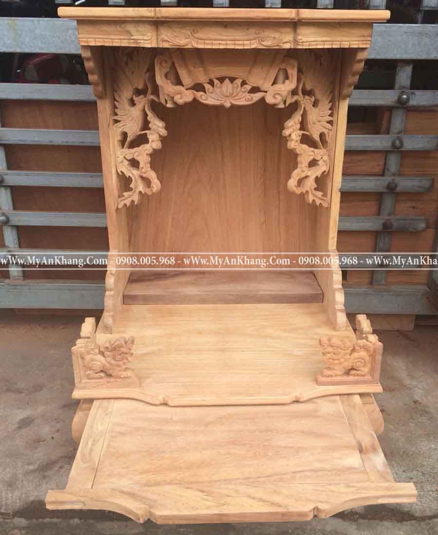 Bàn thờ ông địa đẹp đơn giản gỗ gõ đỏ