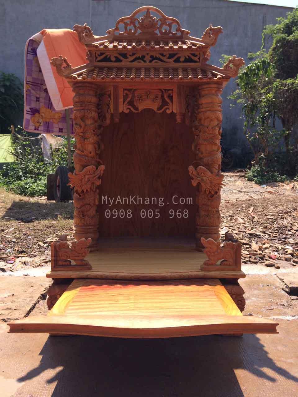 Bàn thờ ông địa thần tài mái chùa 60 118 đẹp