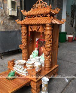 Bàn thờ thần tài ông địa mái chùa đẹp giá rẻ