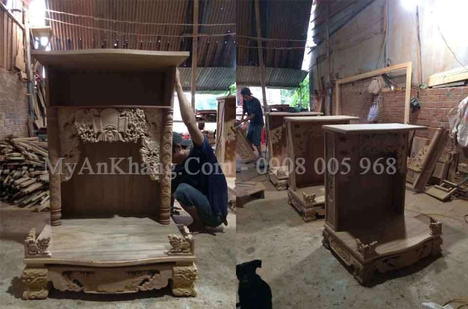 Giới thiệu xưởng sản xuất bàn thờ ông địa