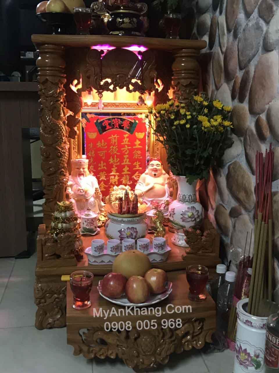 Cách sắp xếp bàn thờ ông địa thần tài đẹp