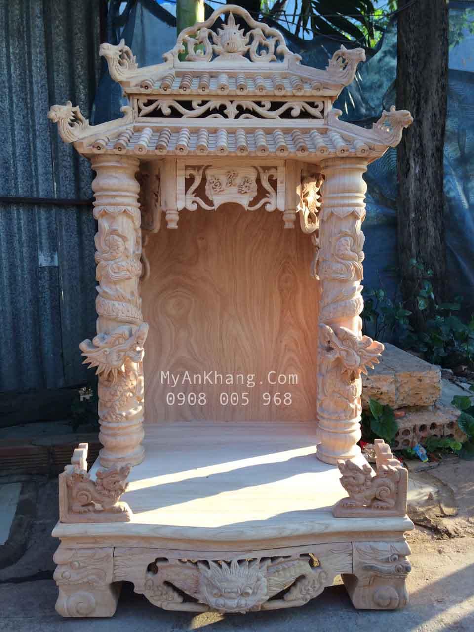 Trang thờ thần tài ông địa mái chùa đẹp