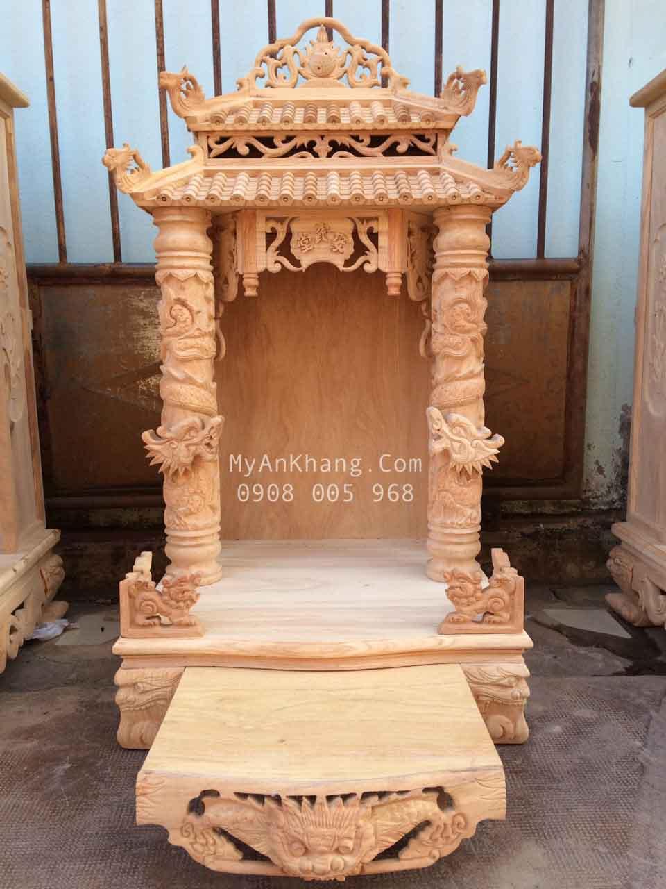 Tủ thờ thần tài mái chùa đẹp