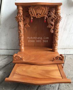 Bàn thờ thần tài giá rẻ đẹp gỗ gõ đỏ