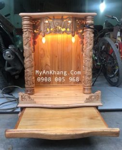 Bàn thờ thần tài giá rẻ gỗ xoan đào đẹp