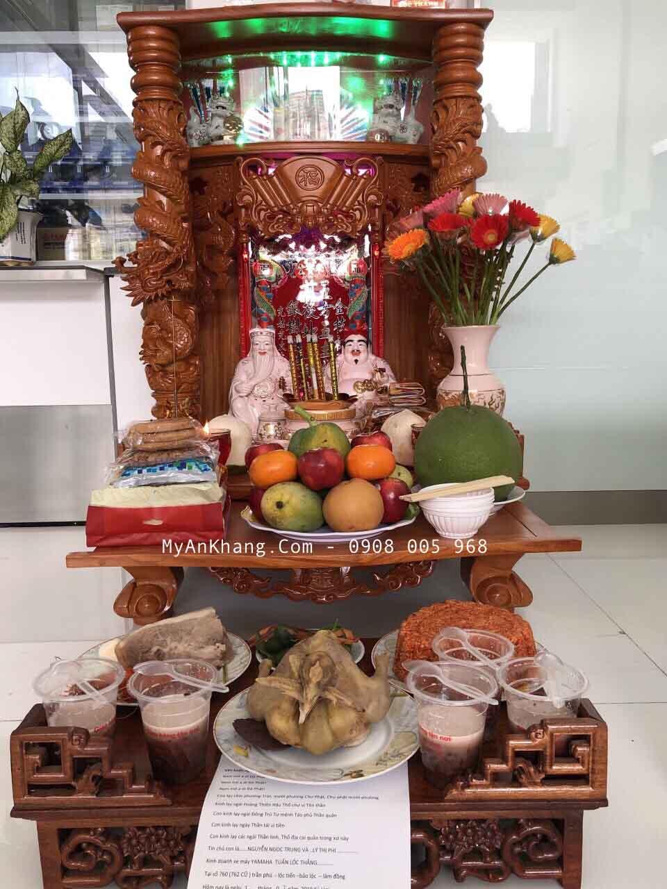 Bàn thờ ông địa thần tài đẹp Bảo Lộc, Lâm Đồng