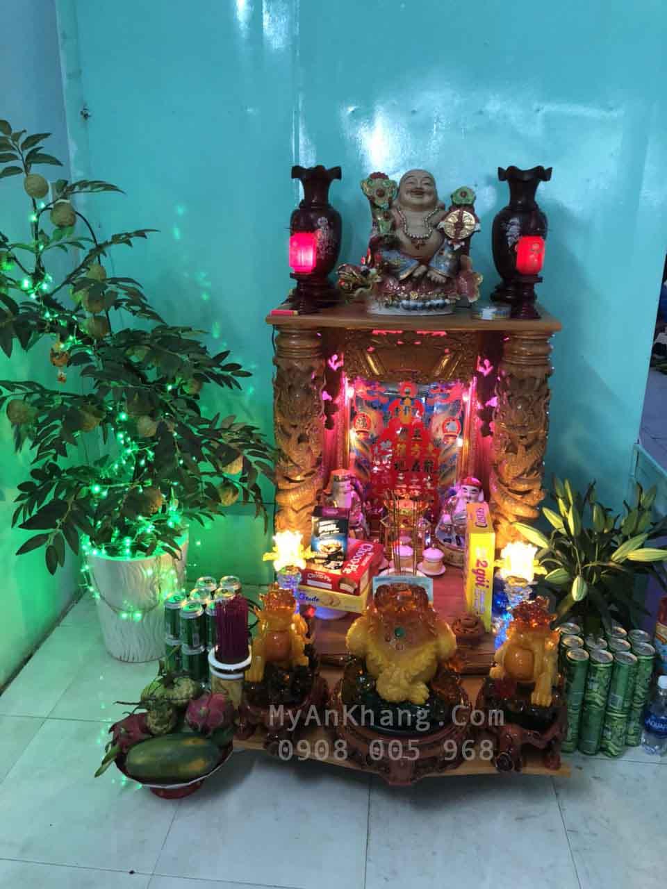 Bàn thờ ông địa thần tài đẹp tại Tiền Giang