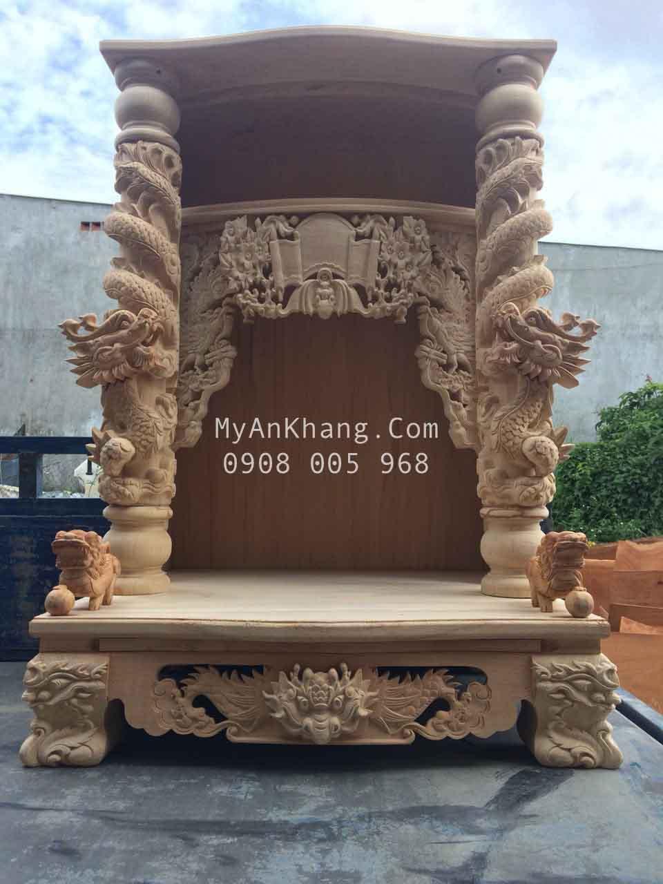 bàn thờ thần tài ông địa đèn điện tử 81 x 81 x 127 cm
