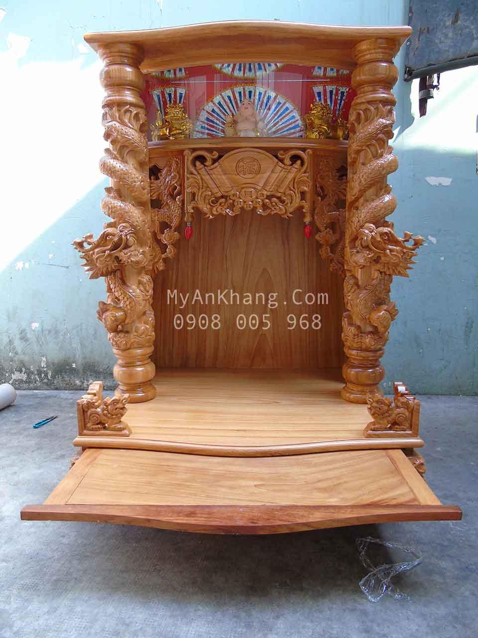 Bàn thờ thần tài ông địa hộp đèn đẹp 81 68 117 cm