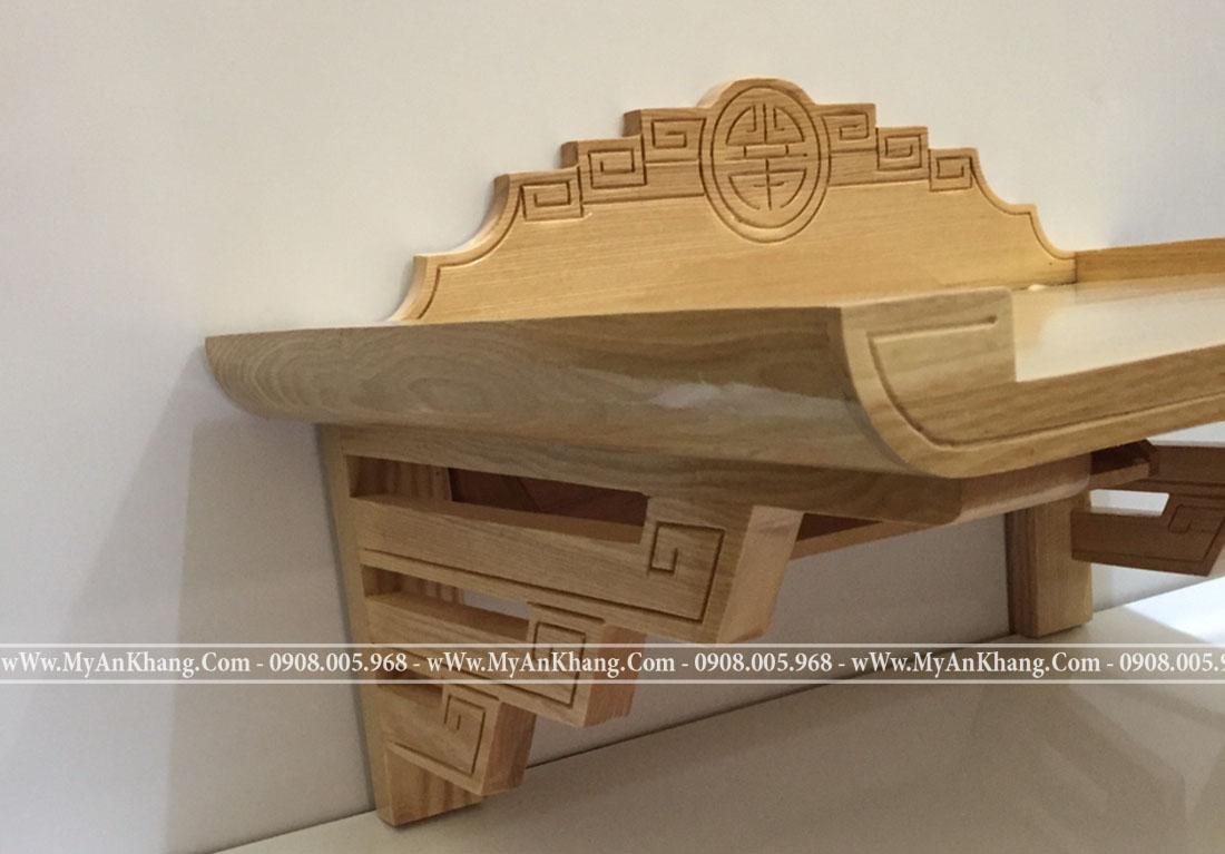 Bàn thờ treo tường gỗ sồi đẹp đơn giản