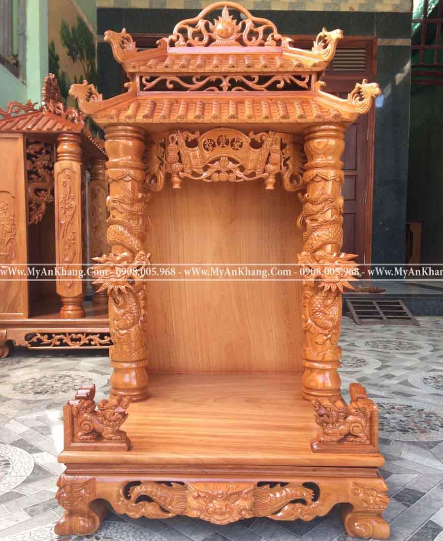 Bàn thờ ông địa thần tài mái chùa 60 60 118 cm