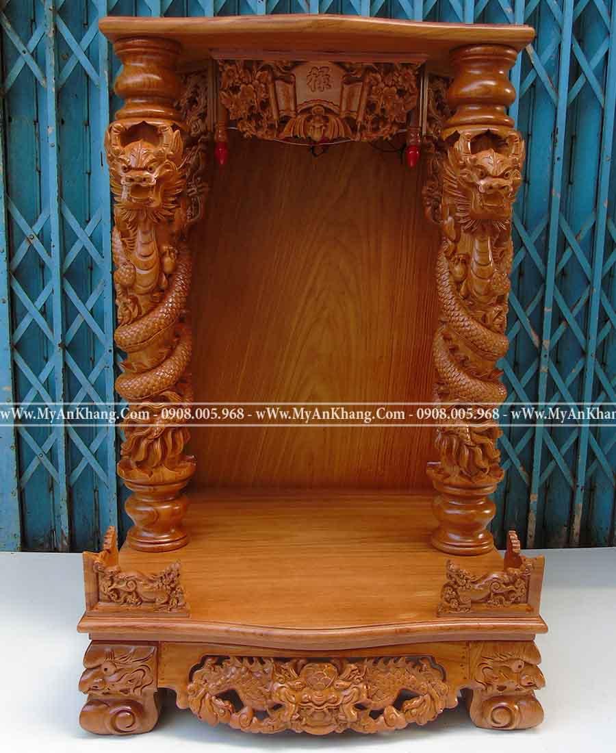 Bàn thờ ông địa thần tài cột rồng phách đẹp 68 x 68 x108
