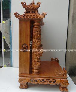 Bàn thờ thần tài mái chùa đẹp gỗ gõ đỏ 68 x 68 x 127 cm