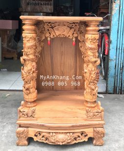 Bàn thờ thần tài đẹp gỗ hương vân kích thước 60