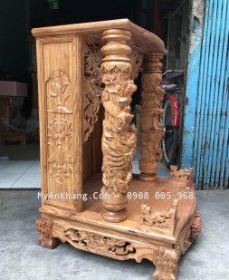 Bàn thờ thần tài gỗ hương đẹp tại TPHCM