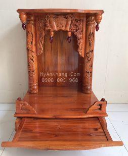Bàn thờ thần tài gỗ xoan đào kích thước 48 48 68