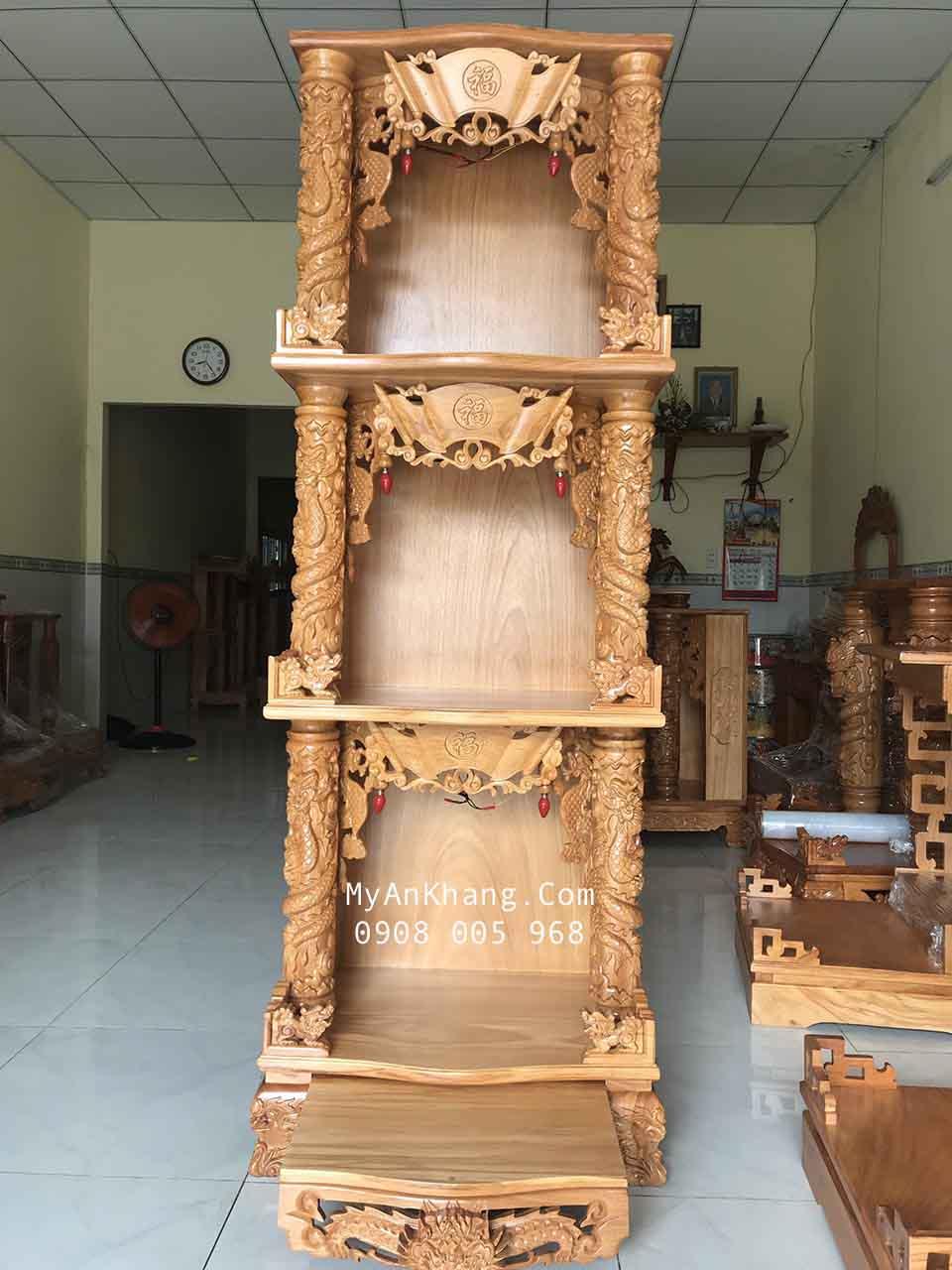 Bàn thờ 3 tầng đẹp giúp tối ưu diện tích