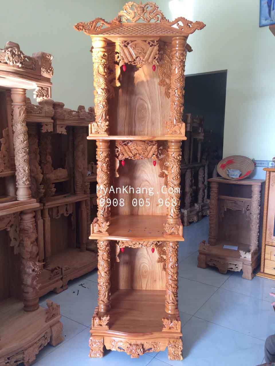 Bàn thờ 3 tầng mái ngói
