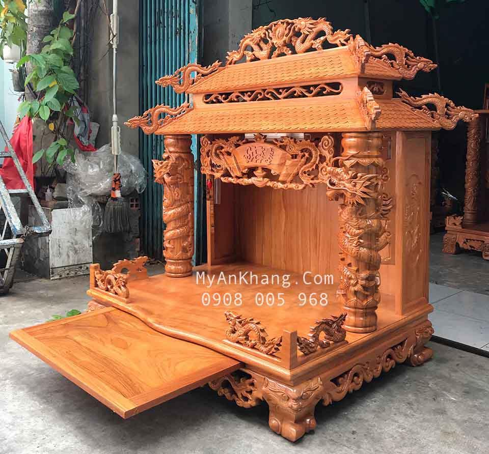 Bàn thờ ông địa mái chùa đẹp Bắc Giang