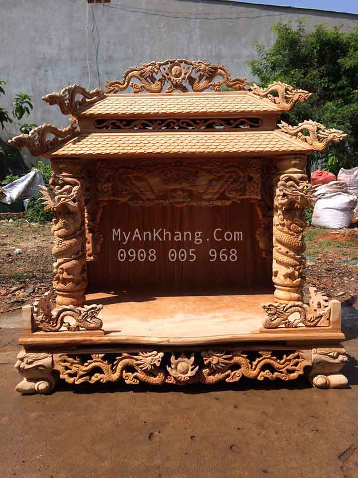 Bàn thờ thần tài mái chùa Bắc Giang VIP