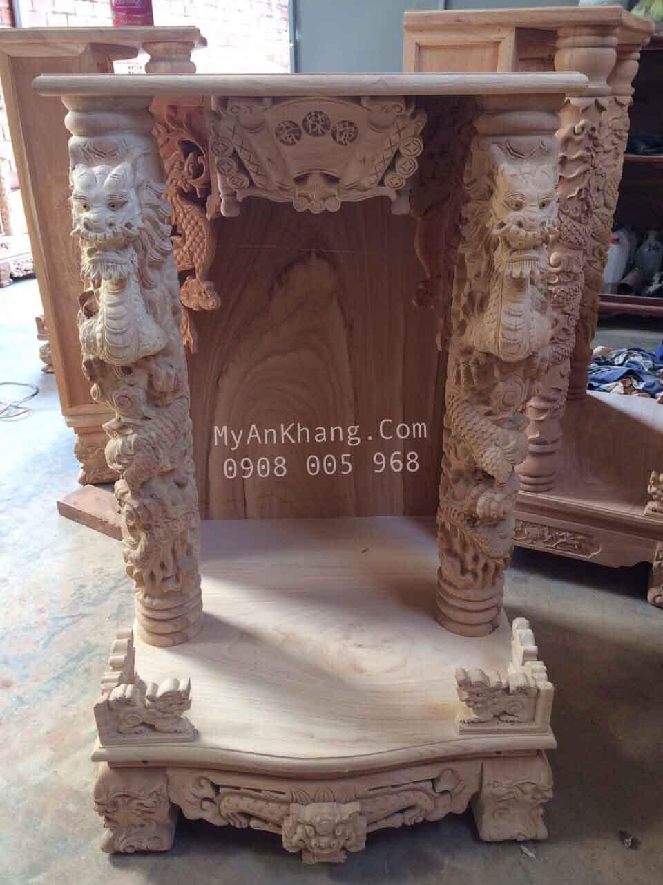 Xưởng sản xuất bàn thờ ông địa rồng ngậm ngọc