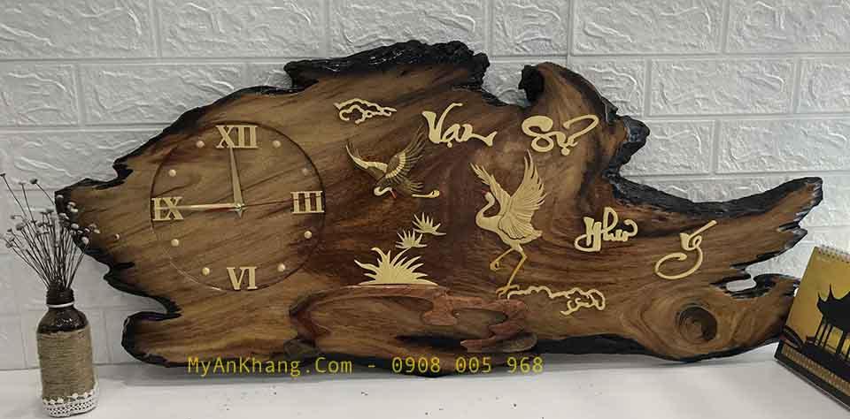 Đồng hồ gỗ tranh thư pháp Vạn Sự Như ý