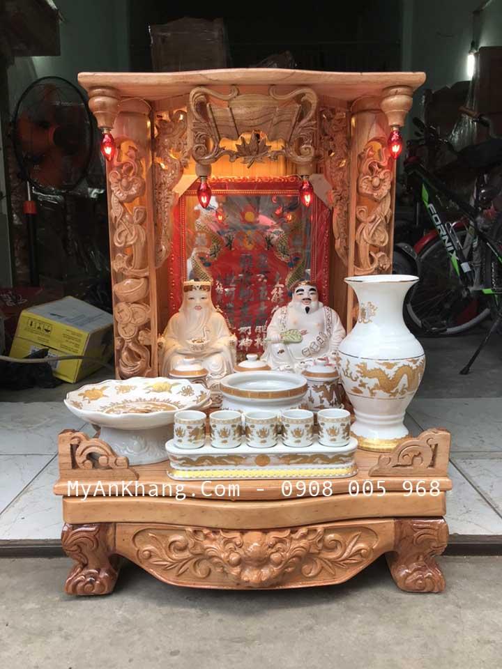 Set trọn bộ đồ bàn thờ thần tài giá rẻ được chúng tôi soạn cho khách hàng trước khi giao tại TP Thủ Đức, Hồ Chí Minh city