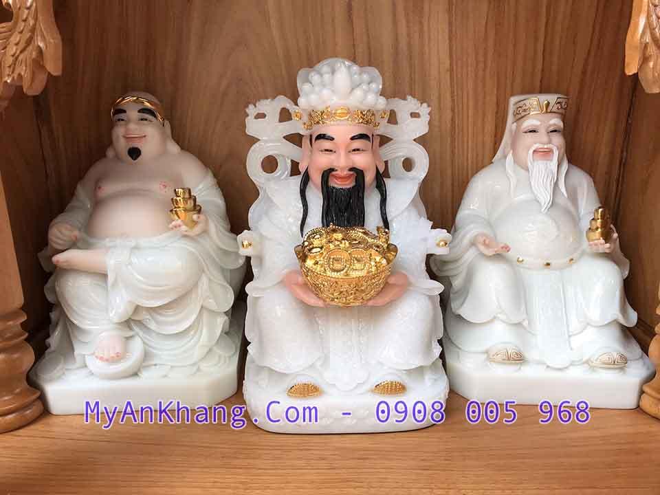 Tượng 3 ông thần tiền thần tài ông địa đẹp