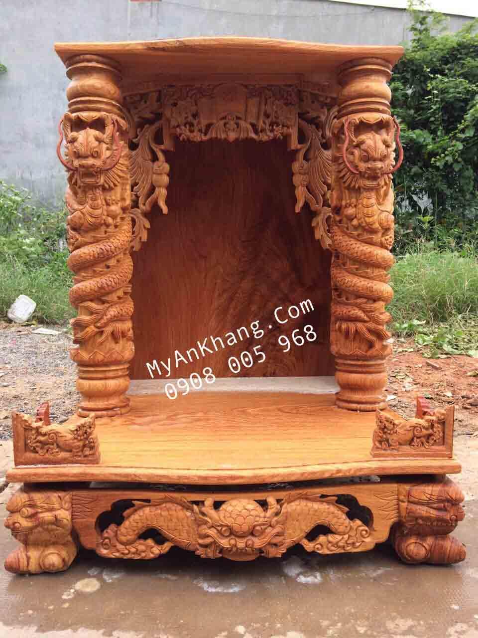 Bàn thờ thần tài đẹp mái bằng tại Hà Nội