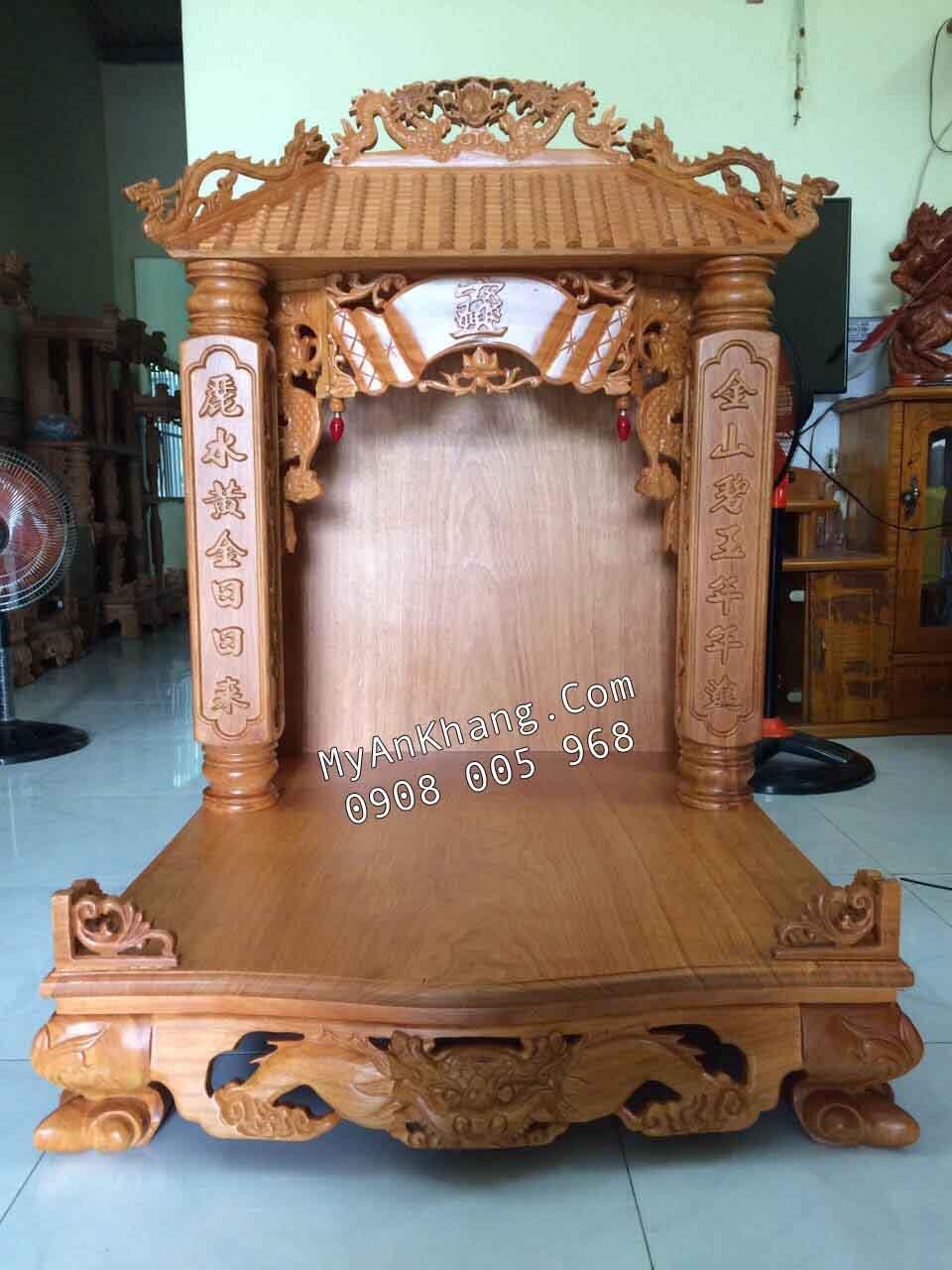 Bàn thờ thần tài mái chùa 1 mái đẹp Hà Nội