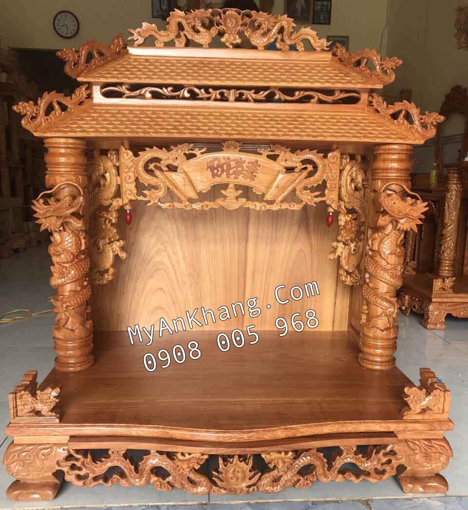 Bàn thờ thần tài mái chùa đẹp Hà Nội