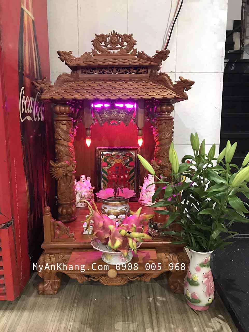 Bàn thờ thần tài mái chùa đẹp nhất TPHCM