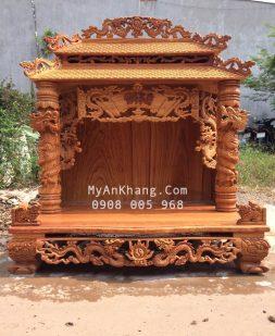 Bàn thờ thần tài mái chùa kích thước lớn