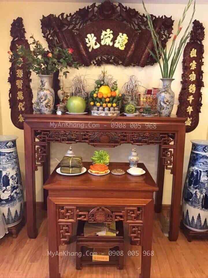 Mẫu bàn thờ gia tiên đẹp TPHCM