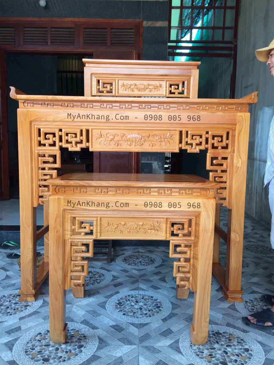 Mẫu bàn thờ gia tiên hiện đại TPHCM
