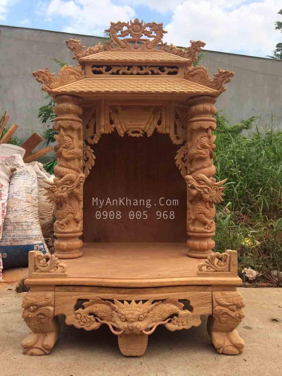 MẪu bàn thờ ông địa mái chùa đẹp hông VIP