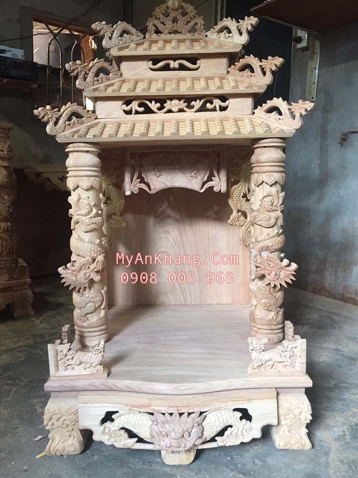 Bàn thờ thần tài ông địa mái chùa 3 mái đẹp nhất
