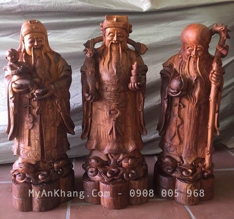 Tượng tam đa gỗ cẩm đẹp cao 50 cm