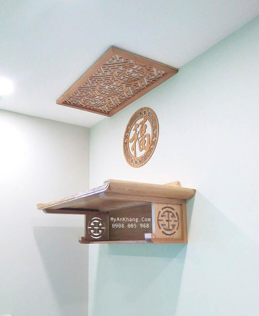 Bàn thờ treo tường đẹp cho chung cư sinh tài lộc