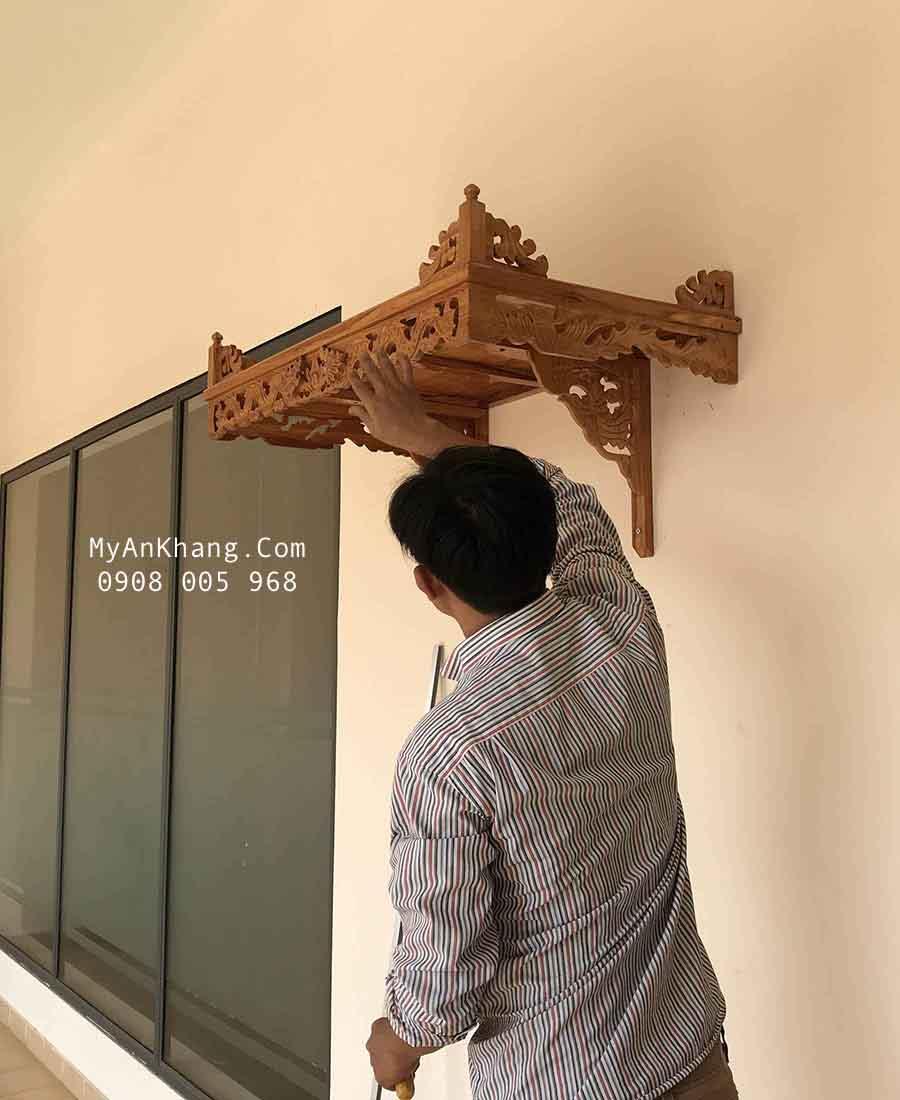 Bàn thờ treo tường đẹp gỗ gõ đỏ